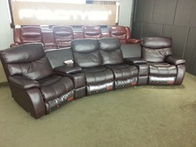 living room sofa Recliner Sofa, cow Genuine Leather Recliner Sofa real Leather Recliner Sofa 4 seater with cupboard storage box(China)