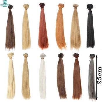 1pcs 25*100CM Straight hair For 1/3 1/4 1/6 BJD/SD Doll wigs Brown khaki black недорого