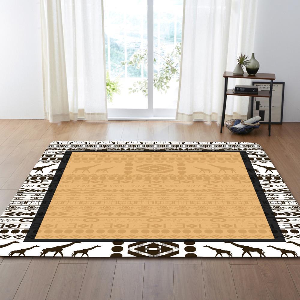 Style européen fleur motif Floormat tapis zone tapis couverture enfant jouer jeu tapis pour chambre salon décoration de la maison cadeaux - 4