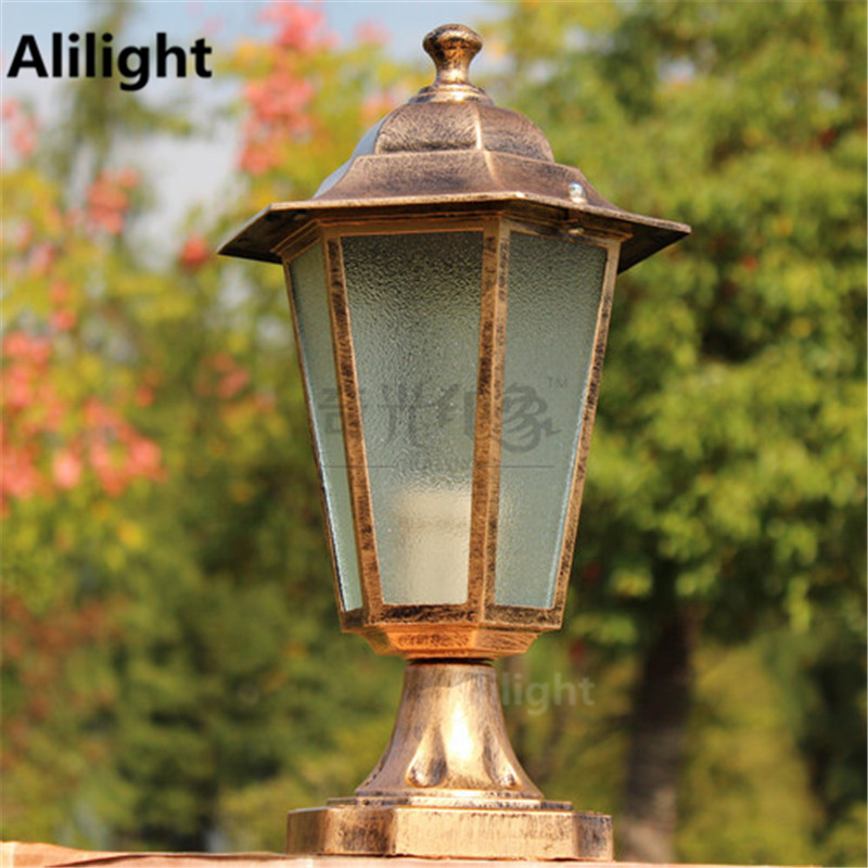european outdoor lantern column lights led iluminacion exterior pillar lamp waterproof landscape lighting aluminum blackbronze