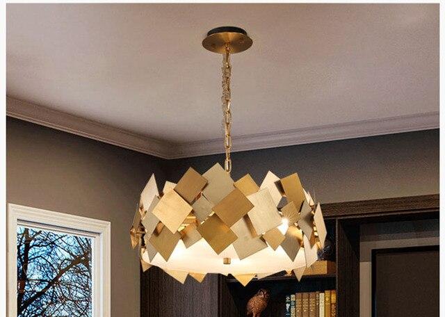Gold Hangen Lampe Beleuchtung Hanglamp Luminaria Luxus Anhanger Lampen Hause Moderne Wohnzimmer Bar Shop Cafe