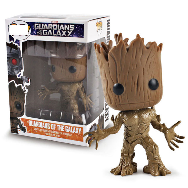 Galaxy Guardians 9.5cm pvc Action Figure Tree Man baby Groot rocket popular Model Collection Toys For Children Gift