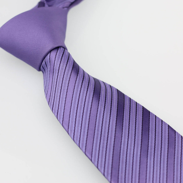 f1f992398443 YIBEI Coachella Ties Lilac Knot Contrast Lilac w Dark Purple Stripes Necktie  Mens Neck Tie Business Handmade for Wedding Dress