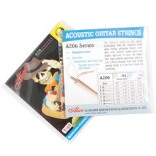 Acoustic Guitar Stainless Steel String Alice A206 A206SL .011 inch 0.28 mm 1st E First Single String encordoamento