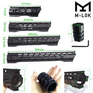 "FIRECLUB 7"" 10"" 12"" 15"" inch MLOK Handguard Free Float Super Slim ar 15 Handguard Quad Rail for M4 M16 with Steel Barrel Nut(China)"