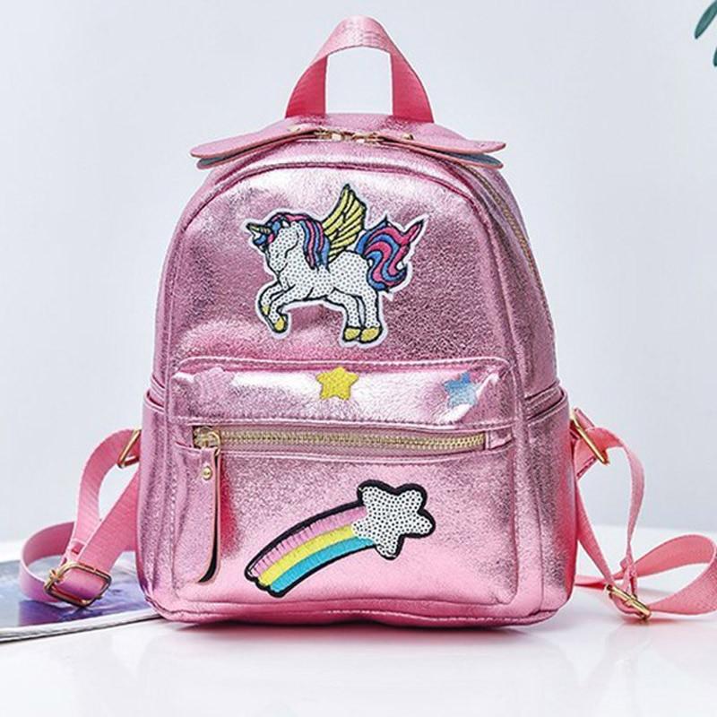 2020 New Women Cartoon Backpack Schoolbag Backpacks For Girls Fashion Unicorn School Bags Children Small Mochila Escolar Menino