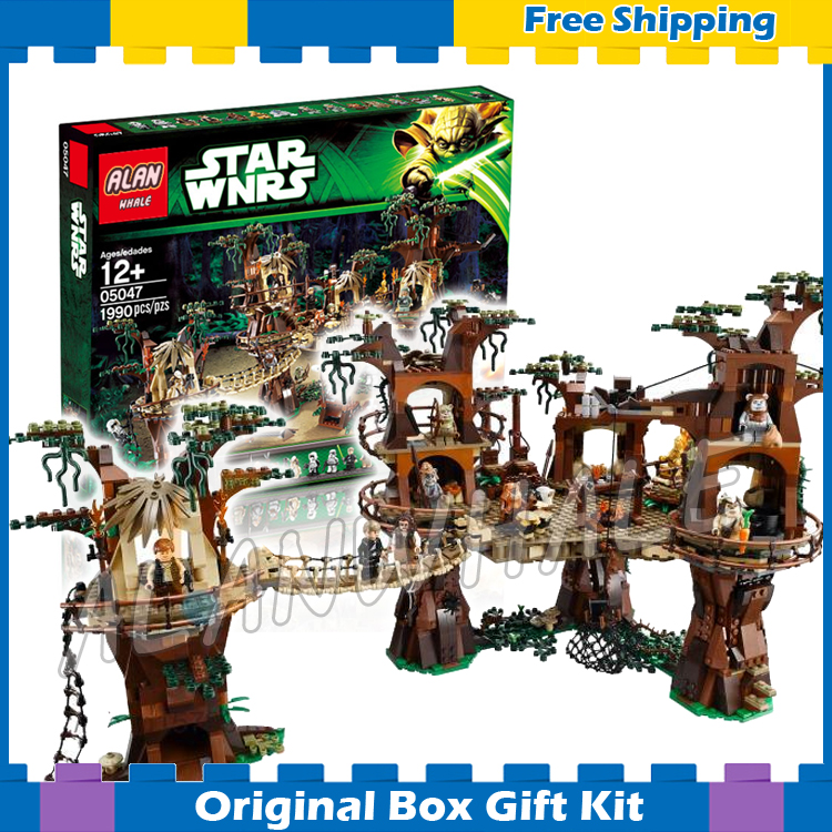 1990pcs Lepin 05047 Star Wars Ewok Village DIY Model Building Blocks Kit unique Bricks Toys Compatible with Lego lepin 02012 city deepwater exploration vessel 60095 building blocks policeman toys children compatible with lego gift kid sets