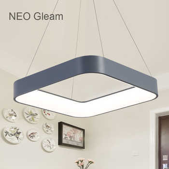 NEO Gleam Dining Room Bar Led Modern Chandelier Novelty Lustre Lamparas Colgantes Lamp for Bedroom Living Room luminaria fixture