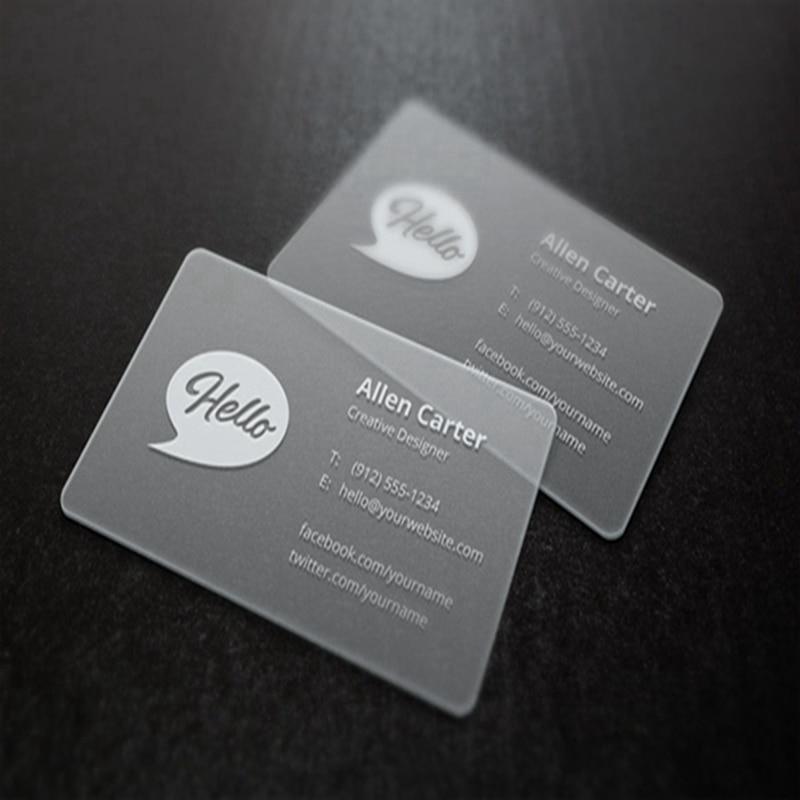 200pcs/one design custom transparent business card name card 85.5 ...