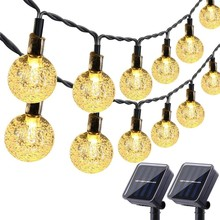 Dcoo Solar Powered Globe LED String Lights 30 LEDs Ball Fairy Outdoor Garden Patio Holiday Christams Warm White