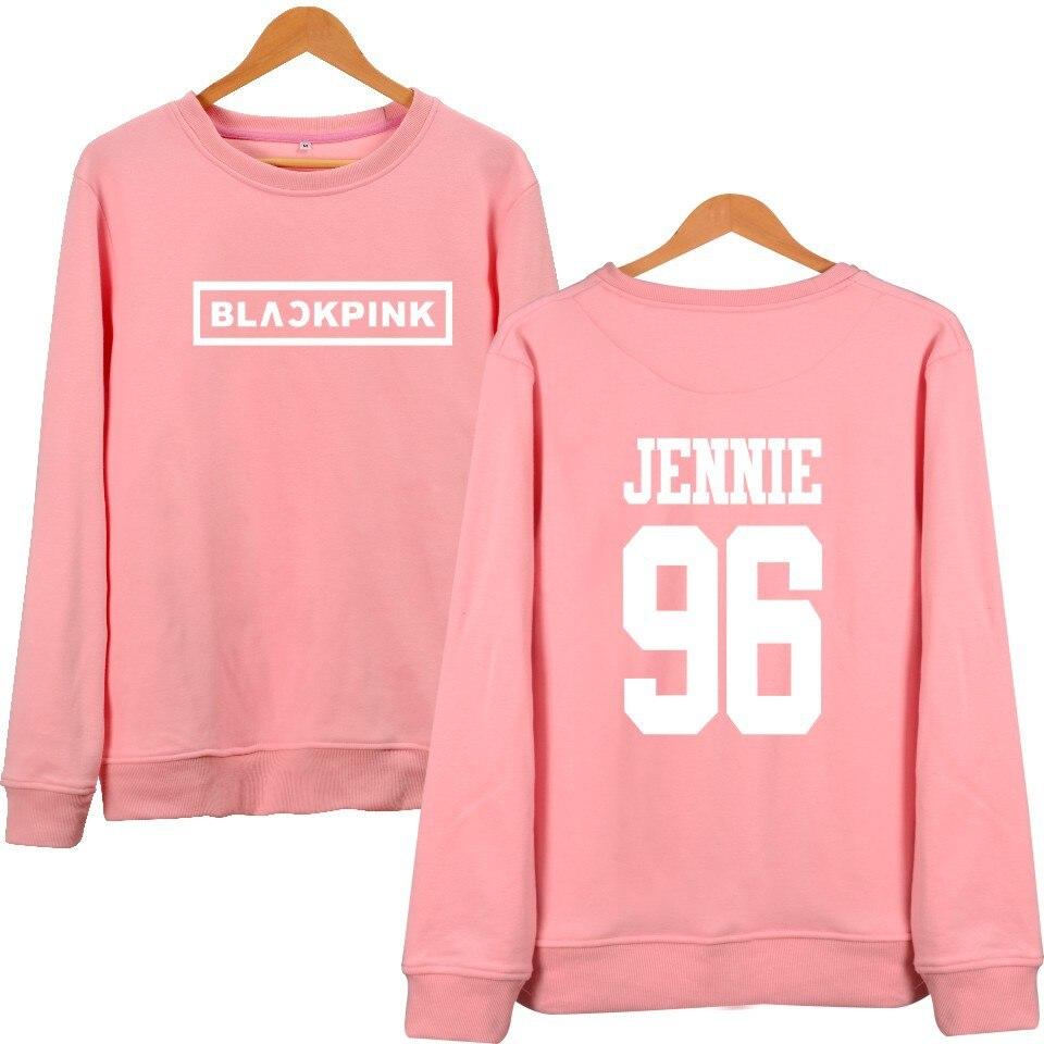 MULYEN KPOP Korean Fashion Sweatshirt Women Pullover Blackpink ...