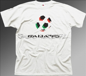 T-shirt men cotton Italia 90 cotton t-shirt funny gift tops present for him men summer cotton t-shirts 4XL 5XL EURO SIZE