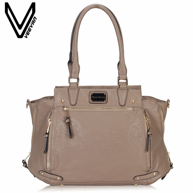 VEEVANV Brand Office Lady Tote Handbag Ladies Leather Shoulder Bag Fashion Women Handbags Crossbody Bag Female Messenger Bag New fashion soft pu office lady handbag shoulder bag women tote bucket bag crossbody messenger zipper