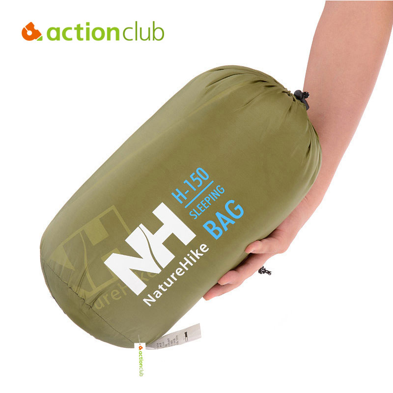 ФОТО Actionclub Outdoor Sleeping Bag Envelope Style Ultralight For Free Walker Camping Siesta Spring  Autumn Winter SC109