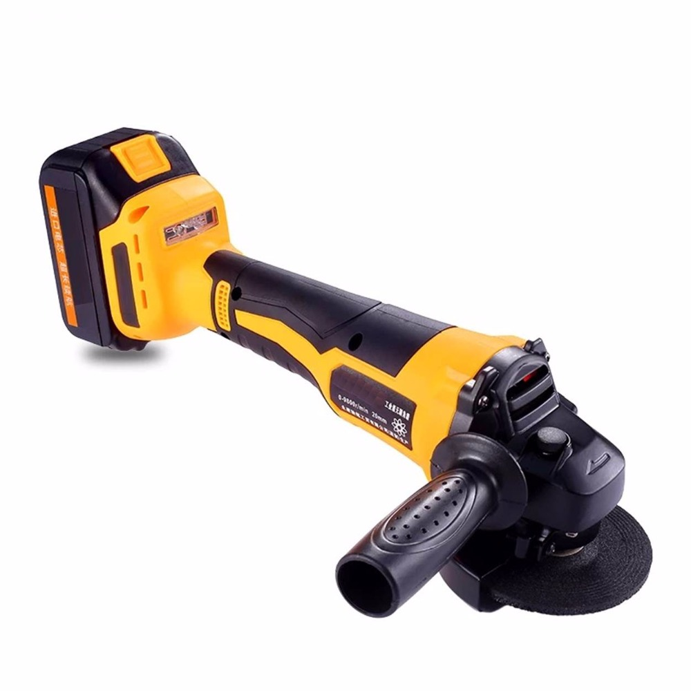 Cordless Angle Grinder Brushless motor Lithium Battery Rechargeable Grinding Machine Polishing Cutting Grinding Sanding Tool