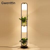 Modern Plant Floor Lamp Led Glass DIY Standing Light Fixtures Nordic Stand Light for Living Room Bedroom Home Decor Luminaire