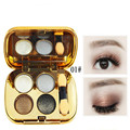 4 color makeup pallete eye shadow Pearl matte color pumpkin color makeup nude monochrome black glitter eyeshadow pallete