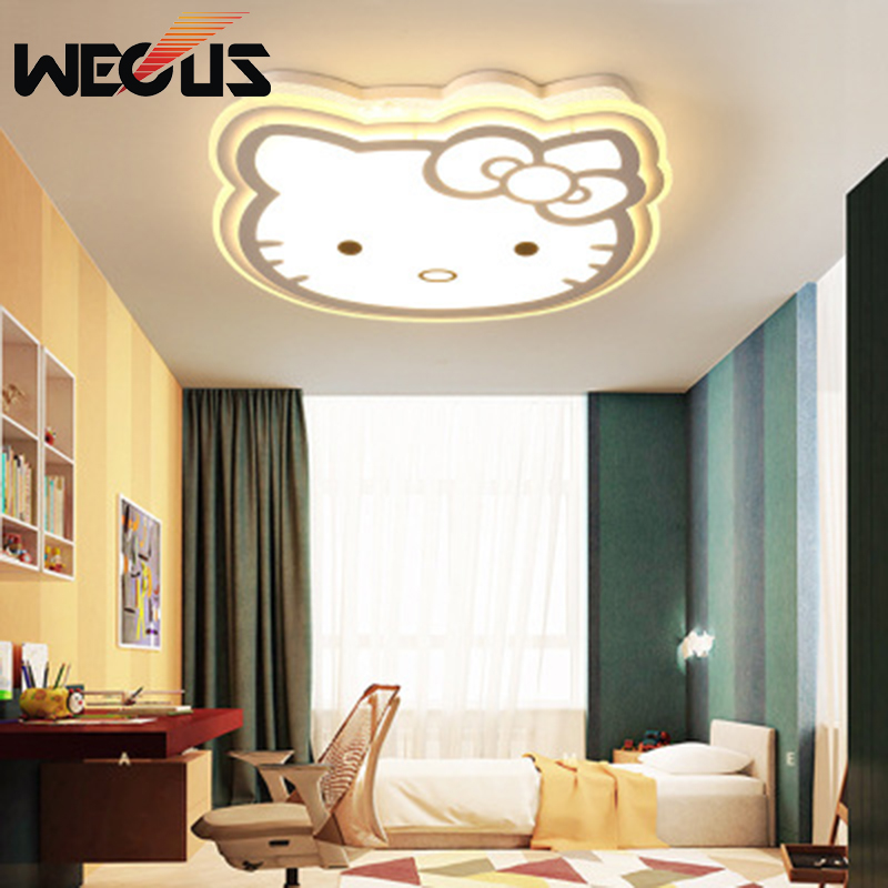 Cartoon personality creative ceiling lamp Hello Kitty cat modern fashion ceiling light children's room study bedroom lamp new cute hello kitty led ceiling light lamp for simple creative cartoon boys girls bedroom ceiling lights children reading room