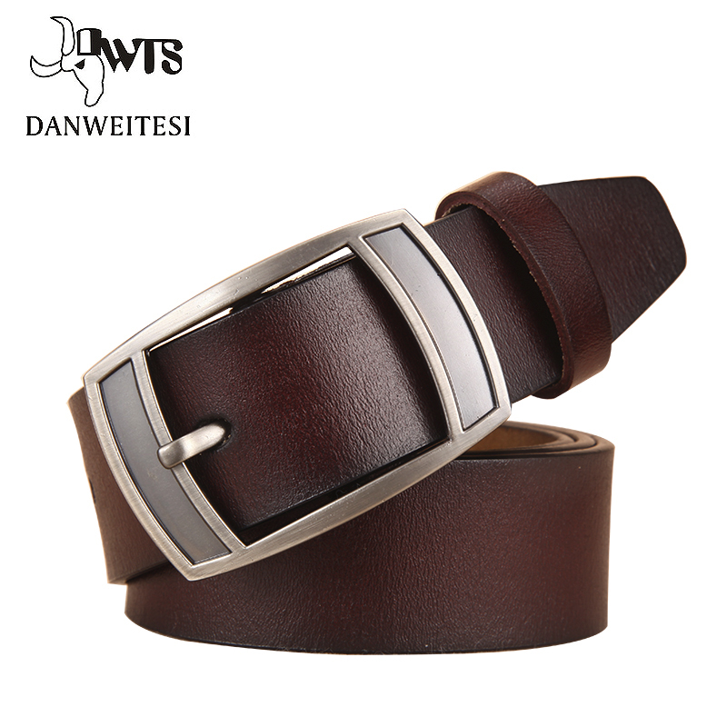 [DWTS]2017 good quality cow genuine luxury leather men belts for men strap male pin buckle masculino