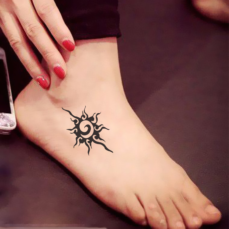 Environmental Women Men Couple Sexy Waterproof Temporary Tattoo Leg Feet Body Spray Fake Transfer Sun Star Designs Stickers
