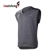 Soulsfeng Men Sport Top Fitness T Shirt Casual Gym Trainer Vest Man Quick Dry Summer Jersey Fashion Athletic Running T-shirt