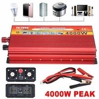 4000W Transformer Inverter Converter Portable Aotomatic Max Power Switch Sine Wave Car Charger DC 12V To110V 240V AC USB Vehicle