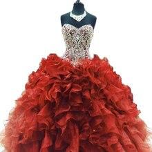 2021 г в наличии красное бальное платье bejoy платья quinceanera