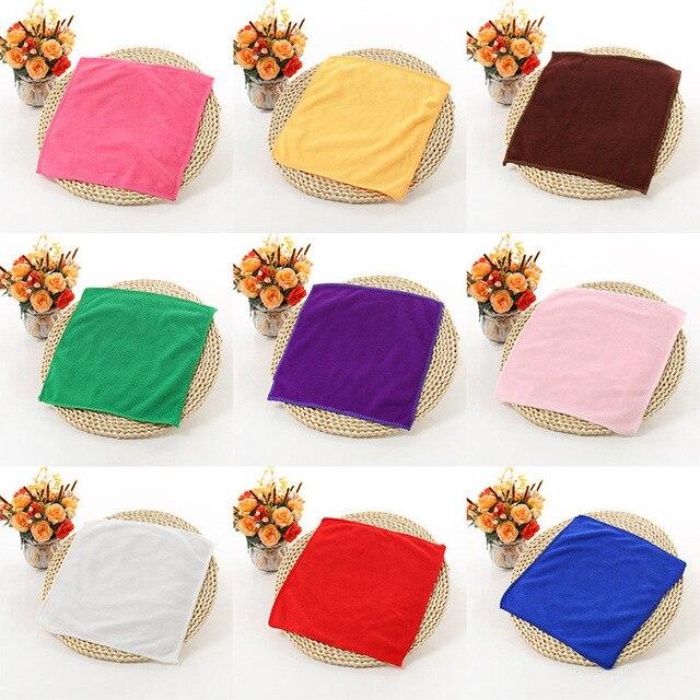 1 pz 25*25 cm di Colore Solido Morbido Quadrato Auto Pulizia Asciugamano In Micr