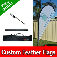 11ft x 3.3ft Sale Teardrop Flag Set Feather Banner Flag INCLUDES 15ft POLE KIT AND HARDWARE LIMITED TIME OFFER