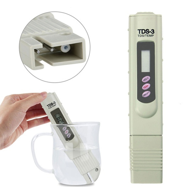 1PC Portable Digital TDS Meter Tester LCD Water Quality Testing Pen Purity Filter Accurate Monitor 0-9990 PPM Temp Dropshipping 1pcs tds meter filter pen new lcd digital temp ppm tester stick water purity calibrate by hold temp botton 21% off