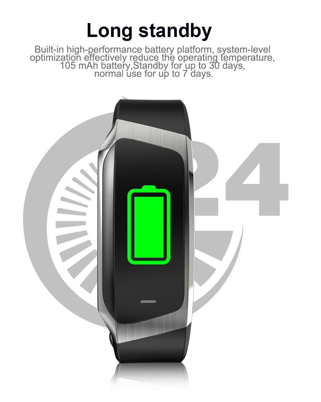 HTB1bWI Kk9WBuNjSspeq6yz5VXao Greentiger E18 Smart Bracelet Blood Pressure Heart Rate Monitor Fitness Tracker smart watch IP67 Waterproof camera Sports Band