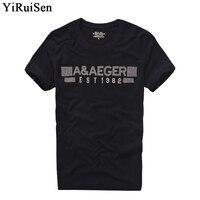 YIRUISEN Brand Black Clothing Men Short Sleeve T Shirt 100 Cotton O Neck Fashion Top Tees