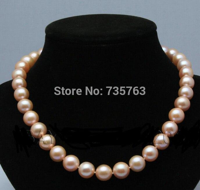 Xiuli 0015023 nouvelle boîte de velours rose d'eau douce akoya collier de perles 18