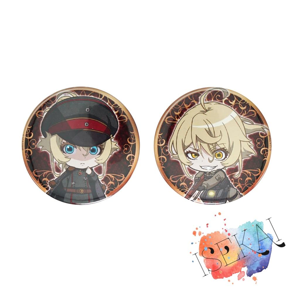 Saga of Tanya the Evil Anime Tanya Von Degurechaff Cute Badge Brooch Pins(China)