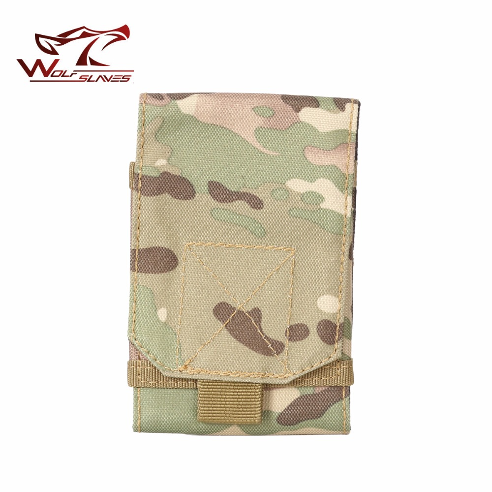 Nylon Tactical Bag Small Cell Phone Pocket MOLLE Pouch Outdoor Hiking Climbing Hunting Tool Bag with HOOK & LOOP