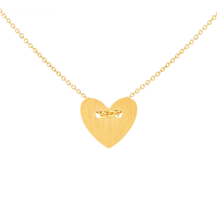 GORGEOUS TALE Bridal Jewelry Collier Femme Monogram Gold Boho Chains Statement Heart Necklace Pendant Bridesmaids Gift For Women