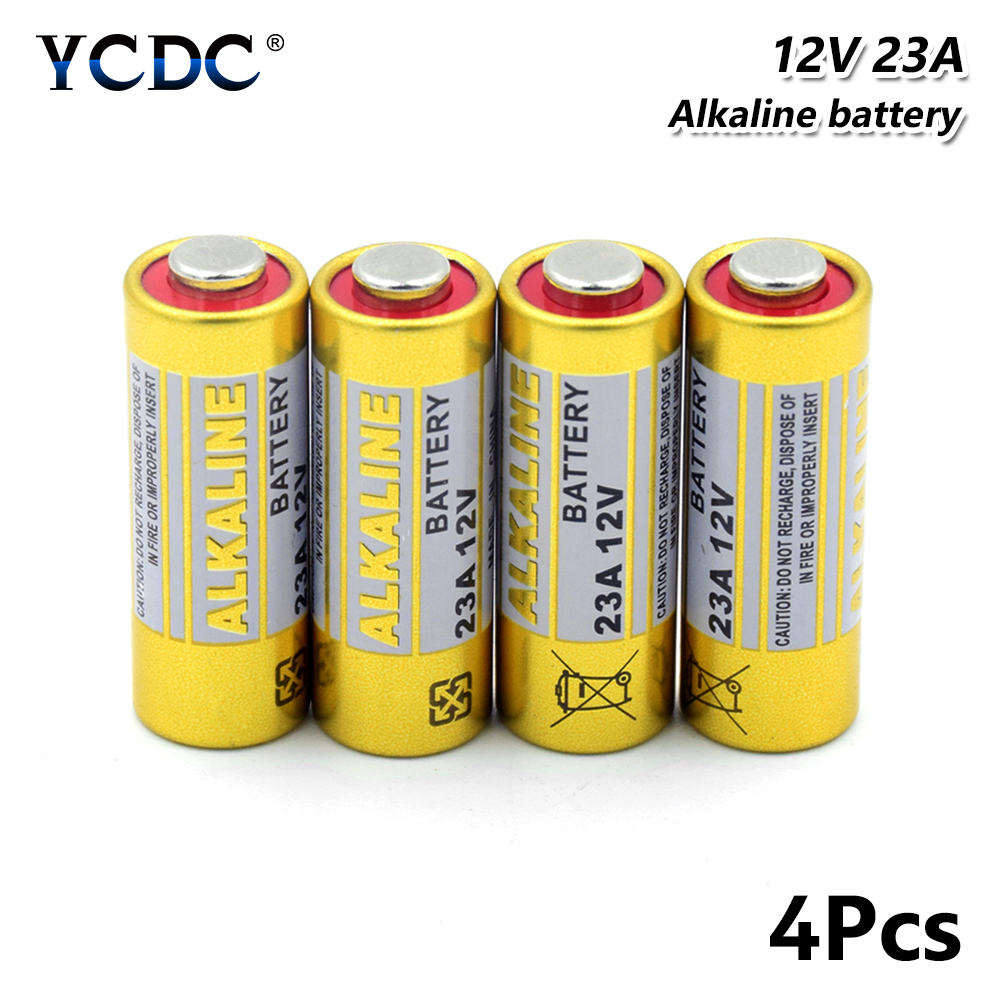 4pcs High Quality <font><b>12v</b></font> 23A 23AE Dry <font><b>Battery</b></font> 23GA <font><b>A23</b></font> A23S E23A EL12 GP23A K23A 21/23 GP23AE LRV08 8F10R 8LR23 Alkaline <font><b>Battery</b></font> image