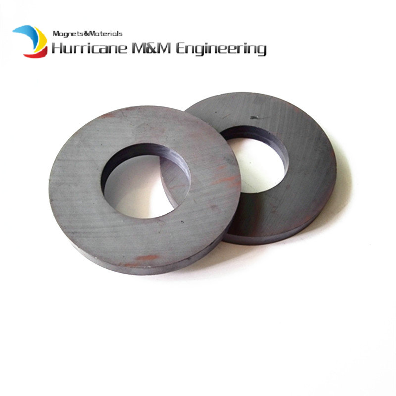 2pcs Ferrite Magnet Ring OD 70x32x10 mm for Subwoofer C8 Ceramic Magnets for DIY Loud speaker Sound Box board home use