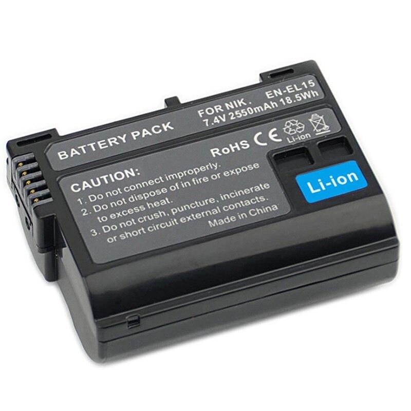 New EN-EL15 Battery ENEL15 Camera Batteria Pack For Nikon DSLR D600 D610 D800 D800E D810 D7000 D7100 D7200 D500 D750 D7500 D600E