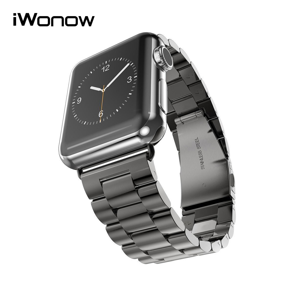 Stainless steel watchband adapter for iwatch apple watch series 1 2 38mm 42mm wrist band link for Metal watches
