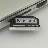BASEQI Için Macbook Air 13/Macbook Pro 13 Retina Alüminyum Stealth Sürücü Mikro SD Kart Adaptörü Bellek Genişleme USB kart okuyucu