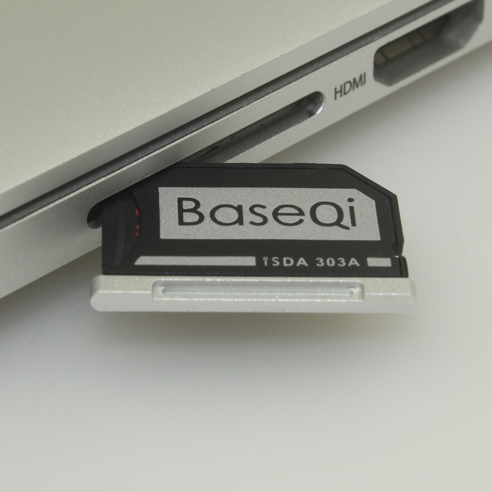 Original BaseQi aluminum Micro SD Adapter for MacBook Macbook Pro Retina 13 and Macbook Air 13 рукава мультипликация полиэстер для новый macbook pro 13 macbook air 13 дюймов macbook pro 13 дюймов