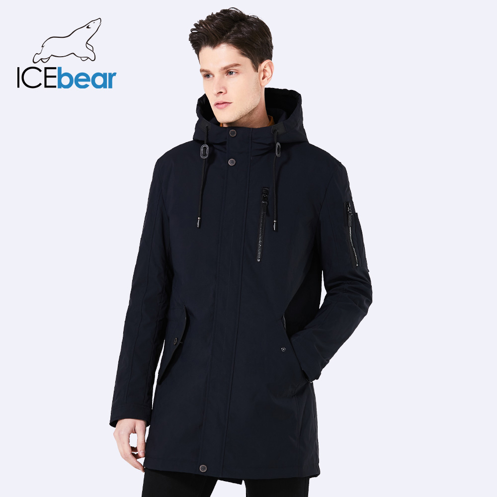ICEbear 2018 new spring men's jacket short casual coat overcoat hooded man jackets high quality fabric men's cotton MWC18228D