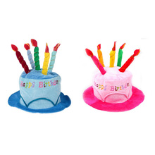 Birthday gift decorations adult birthday cake cap birthday hat show dress up props toys