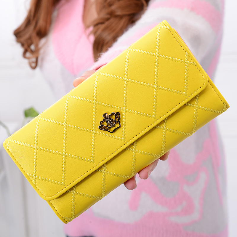 New Style Fashion 2017 Women Wallet Leather Long Coin Simple Lager Capacity Multi-Card B ...