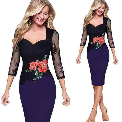Vestiti di pista 2019 delle donne di alta qualità 4xl 5xl 6xl più i vestiti di formato di colore rosso blu di Grandi Dimensioni partito Abito elegante matita vestito WF745