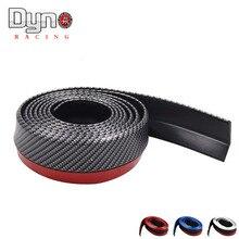 Кузова бампера передний ширина углеродного бампер губы длина полосы резиновые волокна