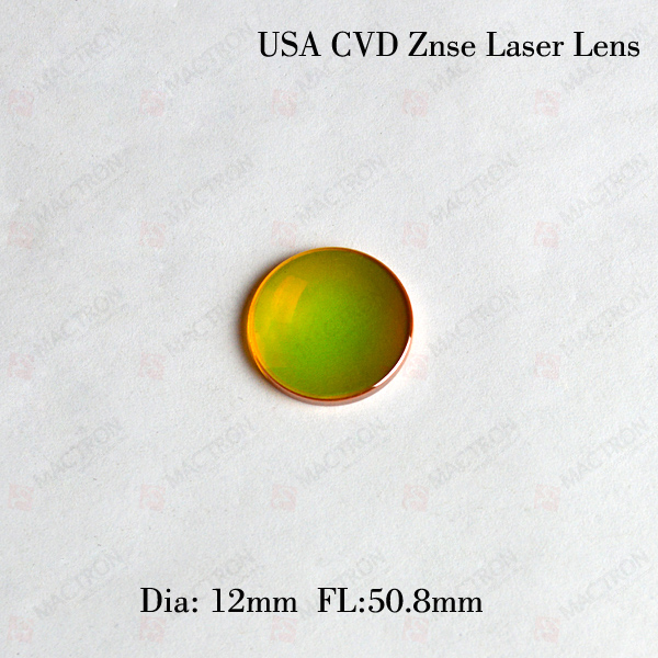 High Quality Co2 Laser Focus Lens (USA CVD ZnSe Materials,Dia 12mm,FL50.8mm) cvd znse co2 laser focus lens with diameter 18mm focus length 38 1mm thickness 2mm