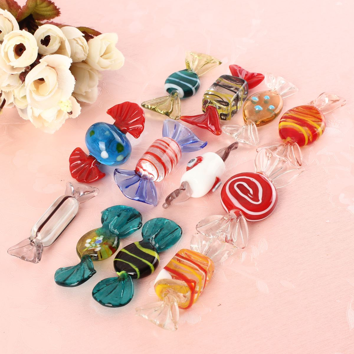 Beautiful glass ornaments - 12pcs Lot Beautiful Design Vintage Glass Sweets Xmax Wedding Candy Christmas Ornaments Fit For Decorations Pattern Randomly In Christmas From Home Garden