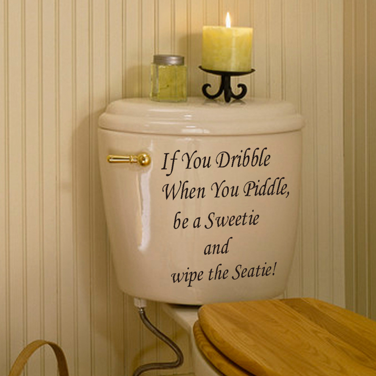 Removable wall decals for bathroom - Hot Toilet Seat Bathroom Quote Waterproof Diy Removable Wall Art